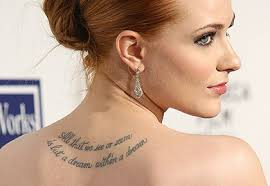 Celebrity Tattoos Female Evan Rachel Best In The World