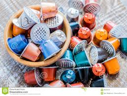 Download Used Coffee Pods Stock Image Of Pollution Bowl