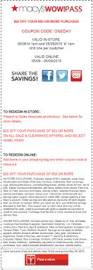 $20 Off $50 Macy's Coupon! #coupon #macys #weekend #shopping ... Macy Promo Code Free Shipping Homewood Suites Special Promotion Exteions A New Feature In Google Adwords Pyrex 22piece Container Set 30 At Macys Free Shipping Yield To Maturity Calculator Coupon Bond Dry Cleaning Coupon Code Save Big With Latest Promo 2013 Amber Paradise Discount Voucher Online Canada Jcpenney Coupons Codes Up 80 Off Nov19 60 Off Martha Stewart Cast Iron The Krazy Daily Update 100 Working 6 Chair Recliner Sofa For 111 200 311 Ymmv Closeout Coach Accsories As Low 1743 Macyscom Kids Recliners Big Lots