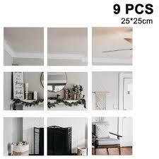 spiegelkachel fliesenspiegel spiegel wanddekoration wandspiegel klebespiegel diy rahmenlos spiegelfliesen an der tür für bad oder wohnzimmer