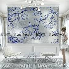 tile wall handmade glass mosaic wall murals living room