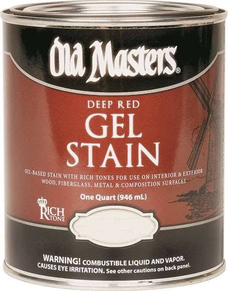 Old Masters 84304 Deep Red Gel Stain - Rich Mahogany, 1qt