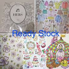 Coloring Book For Relaxation Theme Hers Ready Stock Ordering WA 08170885580 Line