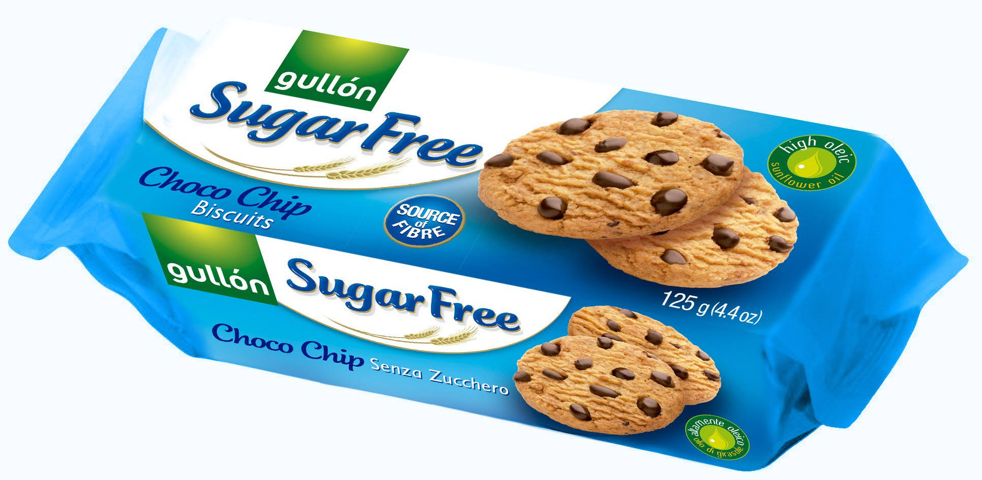 Gullon Sugar Free Bisquits - Choco Chip, 125g