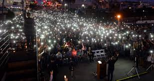 s Vigil For Las Vegas shooting victims Sandy Casey and