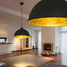 led decken le ø40 cm schwarz gold loft design industrie