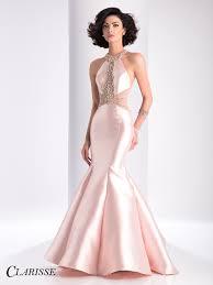 clarisse beaded mermaid prom dress 3139 blush pink prom and mermaid