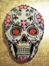 Easy Sugar Skull Day Of by Day Of The Dead Dia De Los Muertos Sugar Skull Cake Cakecentral Com