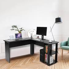 utility holz büro computer schreibtisch home gaming pc furnitur l form ecke studie computer tisch mit buch regal