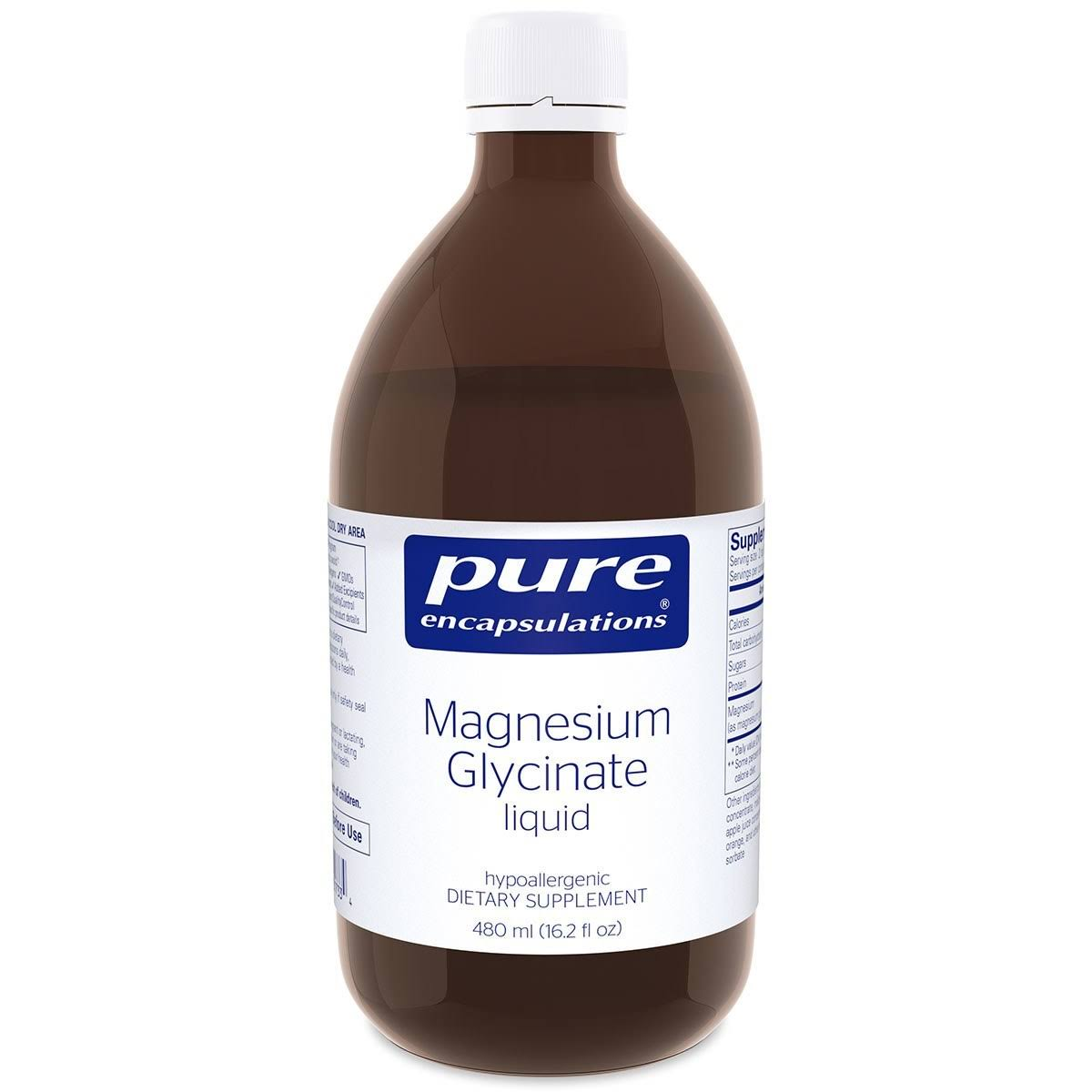 Pure Encapsulations Magnesium Glycinate Liquid Dietary Supplement - 16.2oz