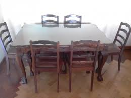 R 5 900 For Sale Imbuia Dining Table With 6 Chairs