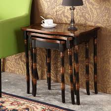 Walmart Living Room Furniture Sets by 3 Piece Coffee Table Set Walmart Retro Hand Painted Side Tables