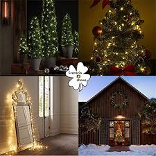 String Lights LED Fairy Xmas Outdoor 100 Leds 33 Feet Copper Wire Warm White Decor Lighting For Bedroom Birthday