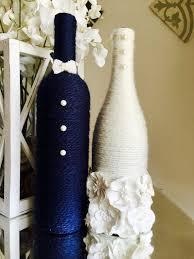 Bride And Groom Wine Bottles Wedding Centerpiece By WanDecor