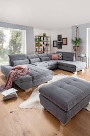 wohnlandschaft in textil grau kaufen xxxlutz