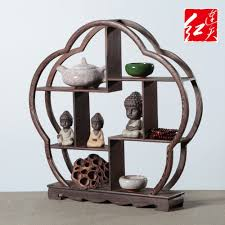 40cm Solid Wood Display Stand Wenge Antique Shelf Model Home Living Room Rack Ornaments Desktop Decorations Table Desk Art Craft In Figurines Miniatures