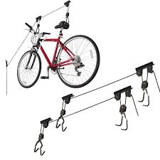 Ceiling Mount Bike Lift Walmart by Set Of 2 Racor Bike Lifts Ceiling Mounted Bicycle Holder Storage