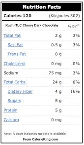 Kashi Nutrition Facts Quaker