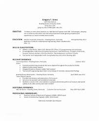 Resume Objective Entry Level General For Examples Of