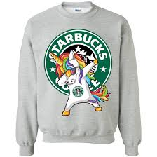 Dabbing Unicorn Starbucks Coffee Shirt Sweatshirt Amazon Best Sellers