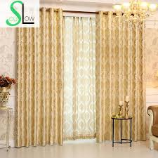 Romantic Jacquard Curtain Cloth Curtains And Tulle Modern Geometric Luxury Hotel Cortinas For Living Room French Floral In From Home
