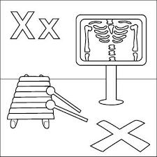 Letter X Coloring Page Ray Xylophone Marks The Spot