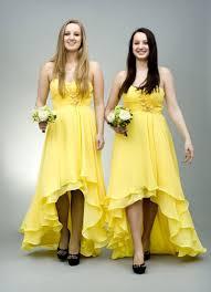 Yellow Bridesmaid DressHigh Low Dresses Cheap
