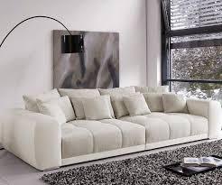 bigsofa valeska grau beige 310x135 cm mit 12 kissen big sofa