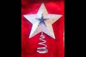 Dallas Cowboys Christmas Tree Star Topper Ornament