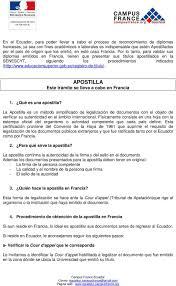 APOSTILLA Este Trámite Se Lleva A Cabo En Francia PDF