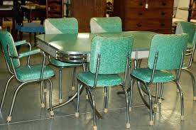 1950s Retro Kitchen Table And Chairs For Cabinet