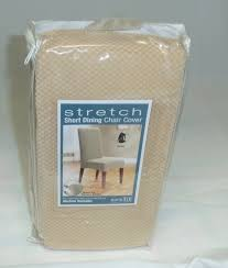 Plastic Seat Covers For Dining Room Chairs by Emejing Sure Fit Stretch Pique Shorty Dining Room Chair Slipcover