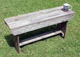 Large Barn Wood Bench