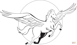 Click The Flying Pegasus Coloring Pages