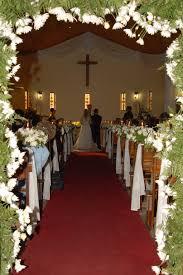 Fresh Church Sanctuary Wedding Decorations