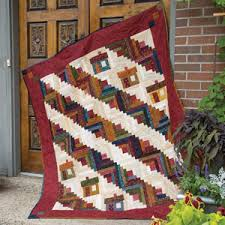 Houses Scrappy Log Cabin Quilt Pattern