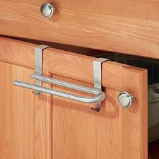 mdesign geschirrtuchhalter edelstahl die handtuchstange ohne bohren über die schranktür hängen toller türhandtuchhalter für zb geschirrtücher