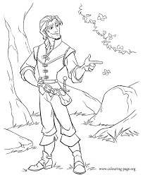 Flynn Ryder Coloring Page For Kids