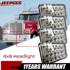 100 Ebay Commercial Truck 4pcs DOT Approved LED Headlights For Peterbilt Freightliner Kenworth