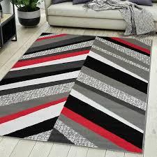 und mehr neu teppich wohnzimmer modern design grau rot