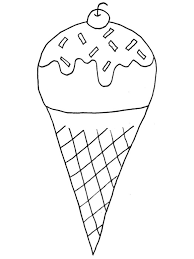 Boy Eating Ice Cream Coloring Page