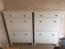 Ikea Hemnes Linen Cabinet Discontinued by Ikea Hemnes Shoe Cabinet White X2 In Nailsea Bristol Gumtree
