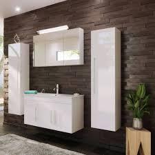lomadox badmöbel set tabris spar set badezimmer mit 100cm waschtisch 02 in hochglanz weiß b h t 200 200 46cm kaufen otto