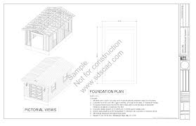 Free 10x12 Gambrel Shed Plans by Shed Sds Plans