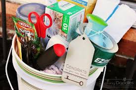 First Rate Housewarming Gift Ideas For Couple Fine Design Bucket