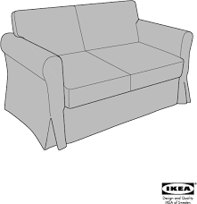 download ikea hagalund sofa bed cover assembly instruction for