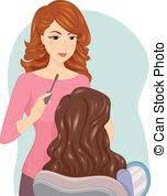 Girl Makeup Artist Illustration of a Female Make Up Artist