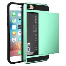 FLOVEME Armour Case with Sliding Credit Card Slot For iPhone 5 5S