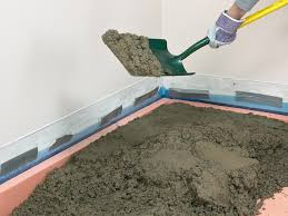 Tiling A Bathroom Floor On Concrete by How To Install A Concrete Floor How Tos Diy