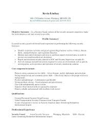Security Clearance Resume Example Entry Level Guard Sample Resumes Officer Examples For